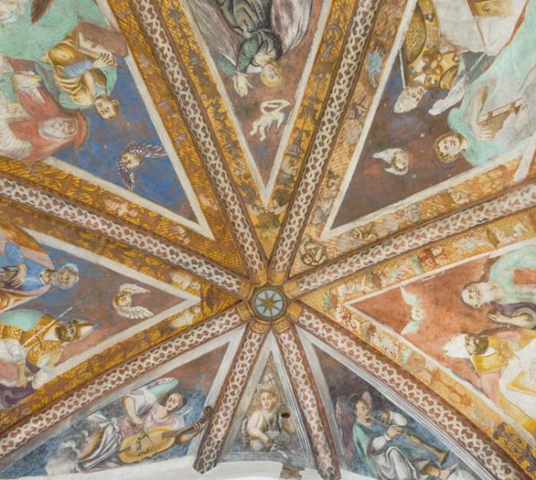 Restauro opera d'arte: Affreschi di Giulio Urbanis.